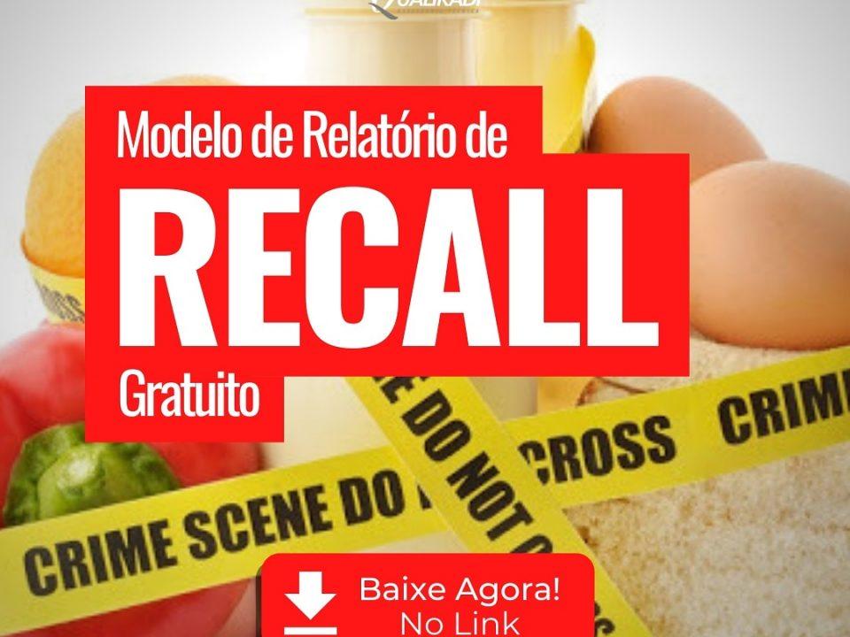 Recall na Indústria de Alimentos. Relatório modelo